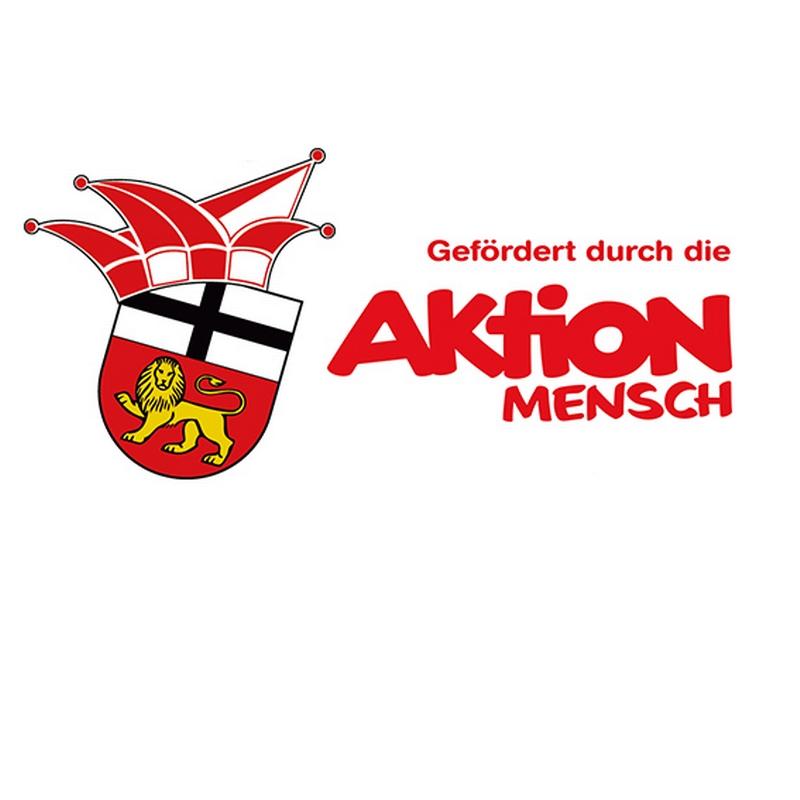 Logo der ehrengarde und der Aktion Mensch auf weißen Hintergrund
