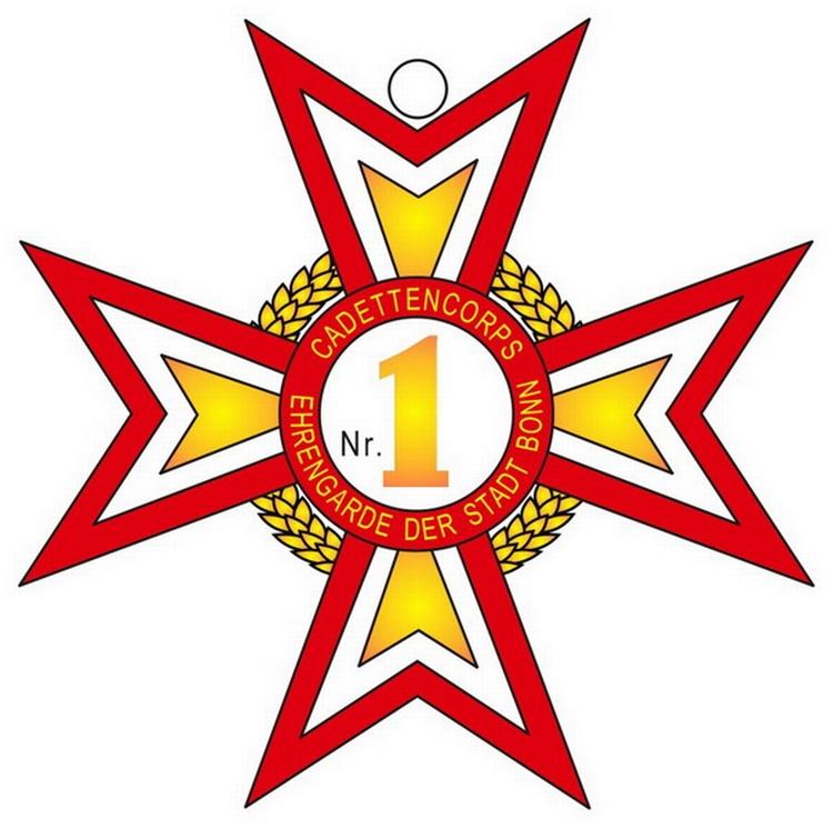Abbildung des Abzeichens - Cadett Nr.1 - des Cadettencorps
