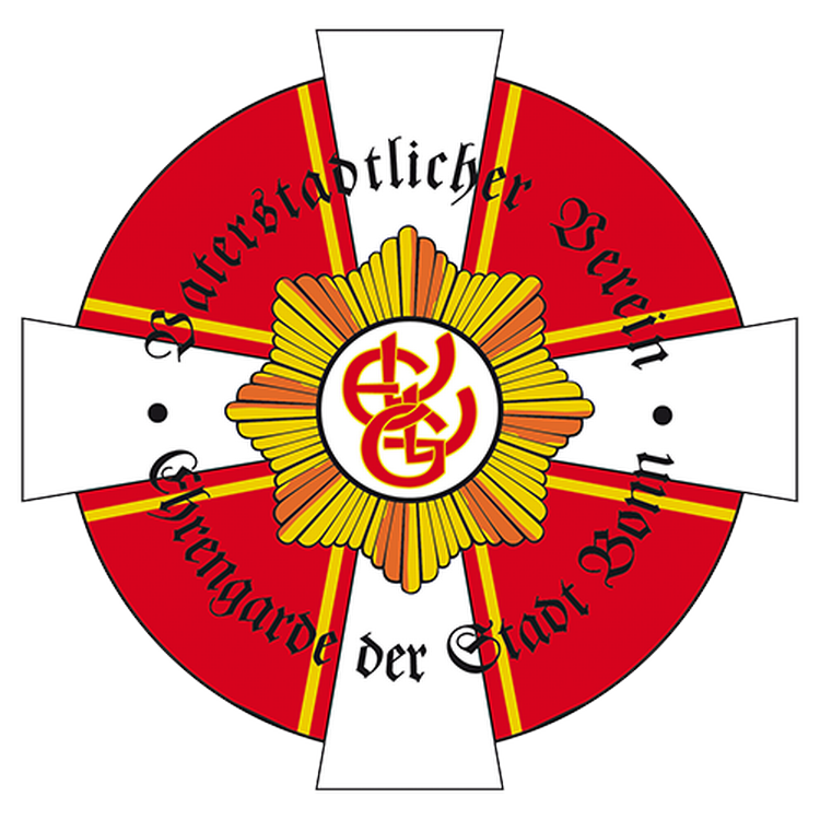Das Logo des grossen Rates zeigt den Gardestern der Ehrengarde in Gold Orange, im Hintergrund befindet sich ein weisses Kreuz auf einem Roten Kreuz